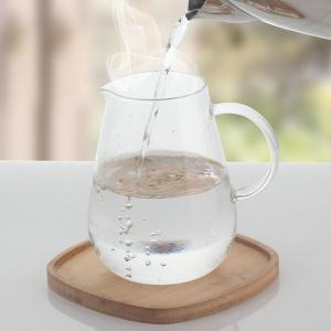 Household Glass Heatproof Lucency Teakettle With Strainer - WHITE