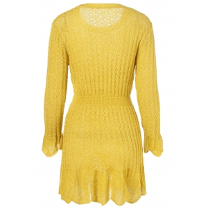 Cable Knit Flare Dress -
