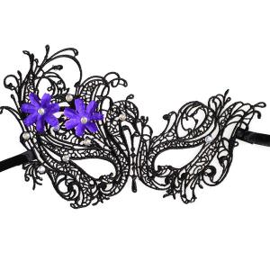 Masque strass Floral élastique cheveux Party Band -