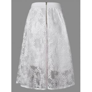 Leaf Jacquard Openwork Lace Double-Deck Skirt -