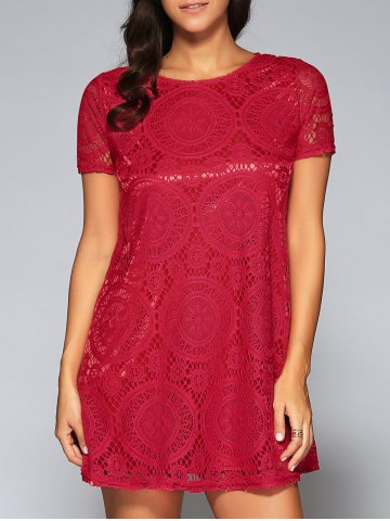 Outfit Lace Openwork Tee
