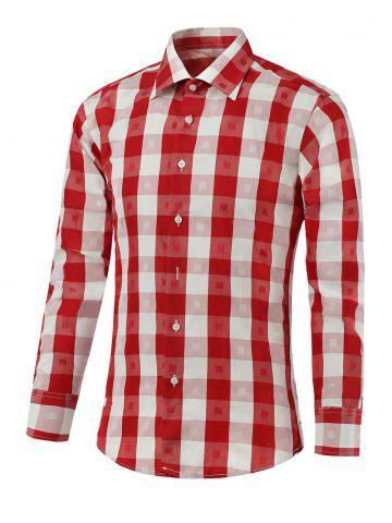 Shops Long Sleeve Two-Tone Checked Shirt