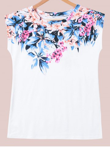 Chic Cap Sleeve Floral T-Shirt