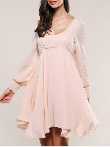 Unique Slit Sleeve Open Back Dress