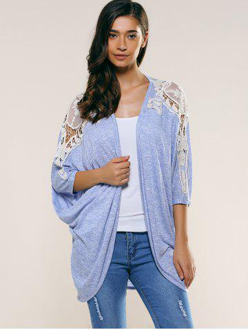 New Lace Splicing Batwing Sleeve Cardigan