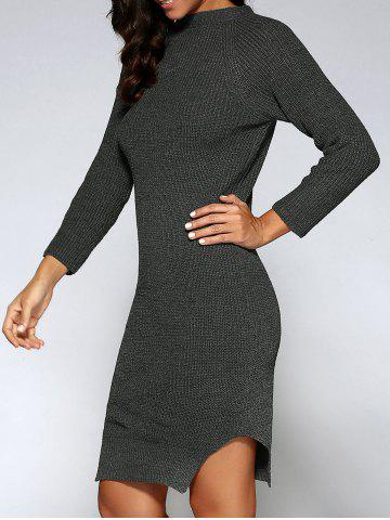 Online Bodycon Slit Sweater Dress