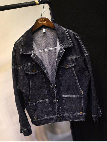 Shop Button Up Dark Wash Jean Jacket