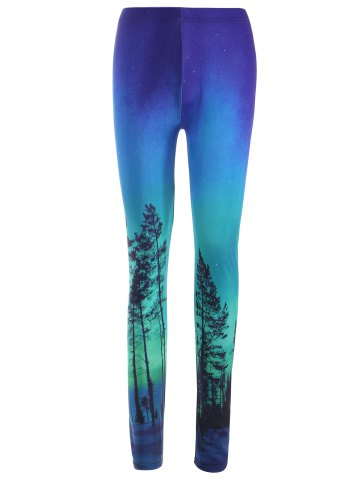 Outfits High Waist Ombre Tree Print Leggings