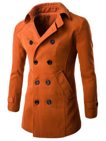 New Half Back Belt Long Sleeve Button Cuff Peacoat