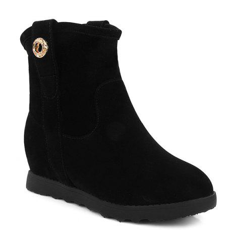 Cheap Hidden Wedge Round Toe Short Boots