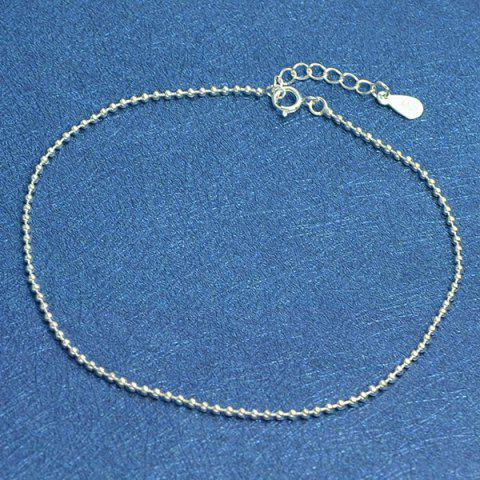 Store Beaded Chain Anklet - SILVER  Mobile