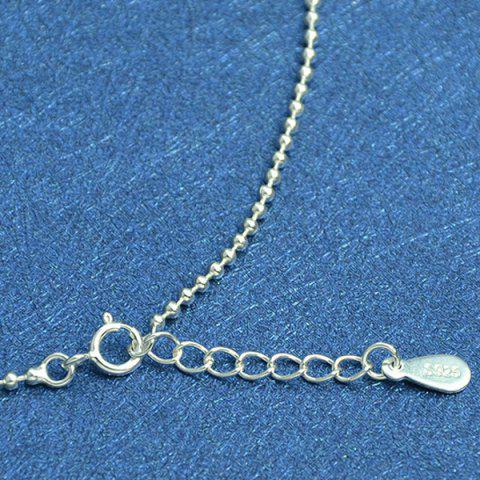 Shop Beaded Chain Anklet - SILVER  Mobile