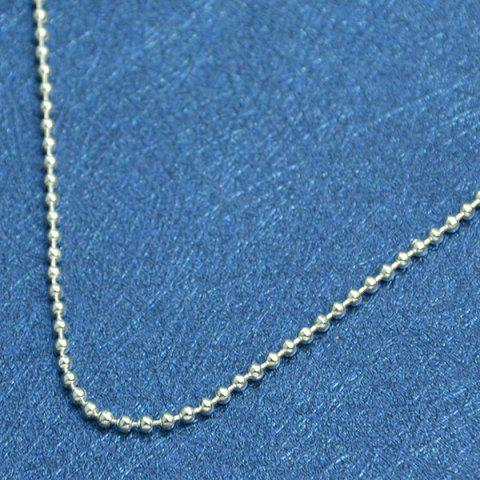 Unique Beaded Chain Anklet - SILVER  Mobile