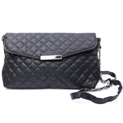 Hot Graceful Checked and Metal Design Women's Crossbody Bag -   Mobile