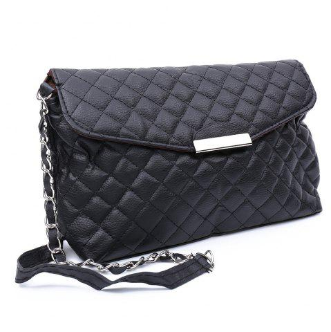 Best Graceful Checked and Metal Design Women's Crossbody Bag -   Mobile