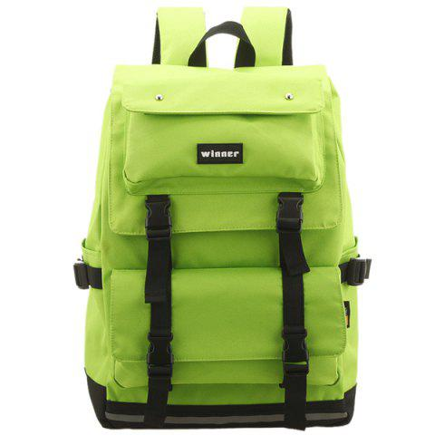 Best Large Buckle Straps Backpack - NEON GREEN  Mobile