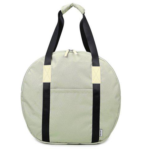 Outfits Round Shape Canvas Tote Bag - OFF-WHITE  Mobile
