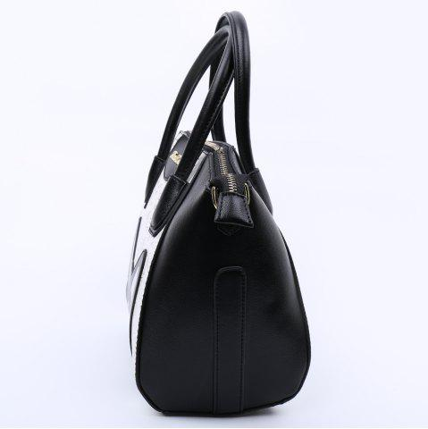 Cheap Casual Color Block and Printed Design Tote Bag For Women - BLACK  Mobile
