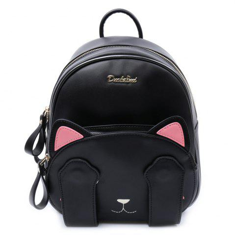 New Cute Cat Pattern and Black Design Backpack For Women