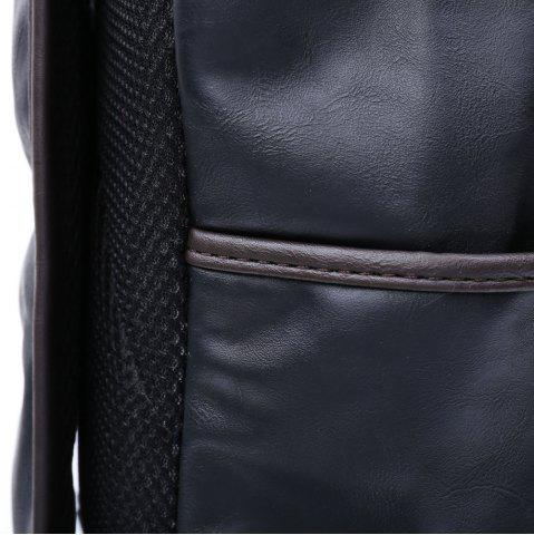 Latest Casual Dark Color and PU Leather Design Backpack For Men - BLACK  Mobile