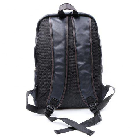 Store Casual Dark Color and PU Leather Design Backpack For Men - BLACK  Mobile