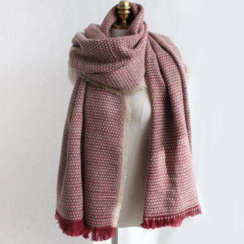 Shop Fringed Edge Weaving Shawl Wrap Scarf
