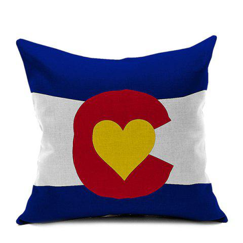 Shops Flag Heart Printed Decorative Sofa Cushion Pillow Case