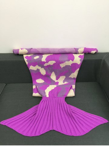 Outfit Camouflage Pattern Knitted Sofa Bed Mermaid Blanket - COLORMIX  Mobile