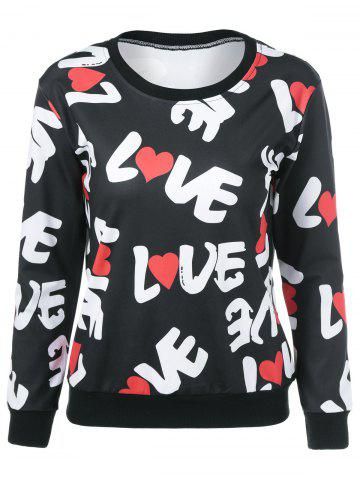 Affordable Love Letter Heart Sweatshirt