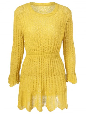 New Cable Knit Flare Dress