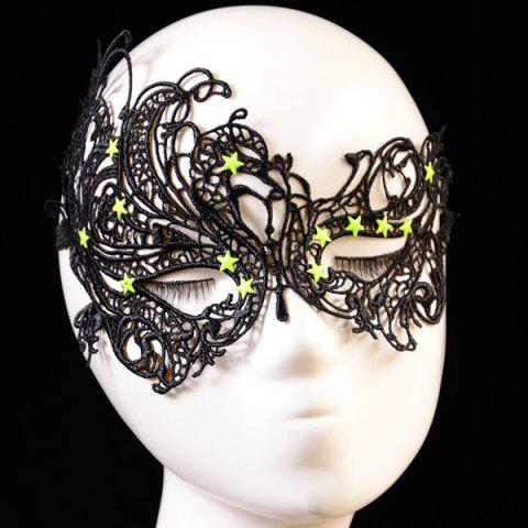 Black Pentagram Elastic Hair Band Party Mask Rosegal Com