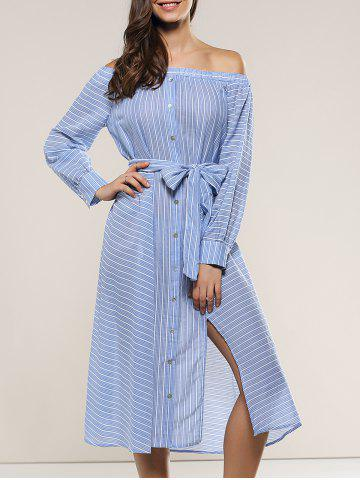 Shops Off-The-Shoulder Tie Front Dress