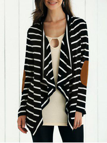 Online Elbow Patch Striped Cardigan