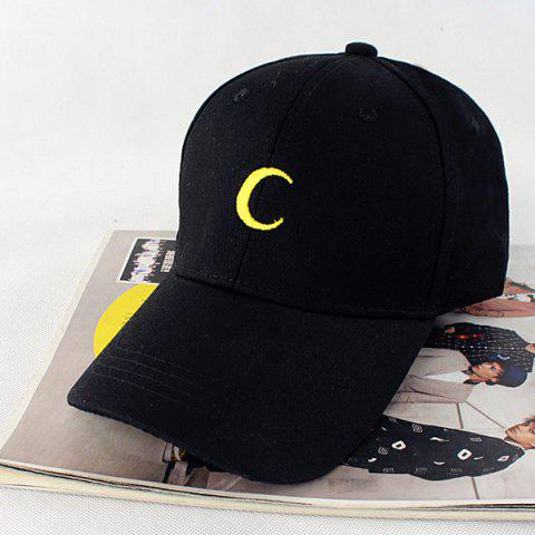 Fashion Crescent Embroidery Baseball Hat
