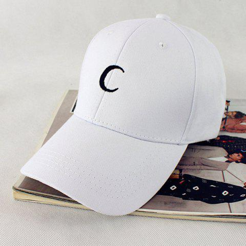 Cheap Crescent Embroidery Baseball Hat