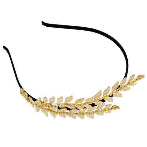 Latest Leaf Decorated Rhinestone Vintage Hairband