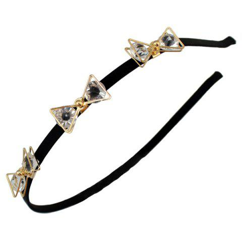 Online Faux Crystal Insect Hairband - BLACK  Mobile
