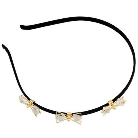 Fancy Faux Crystal Insect Hairband - BLACK  Mobile