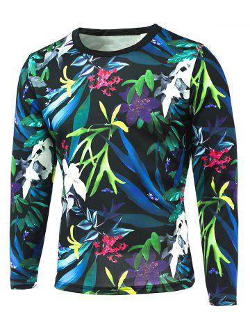 Buy 3D All-Over Floral Printed Long Sleeve T-Shirt