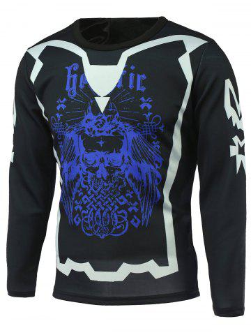 Trendy Abstract Printed Long Sleeve T-Shirt