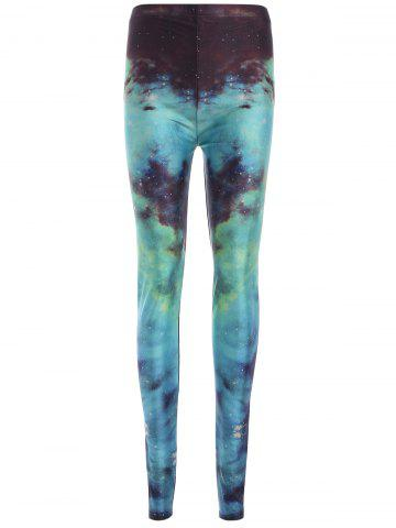 New Elastic Waist Galaxy Print Leggings