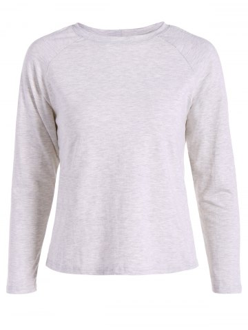 Fancy Long Sleeves T-Shirt With Back Slit