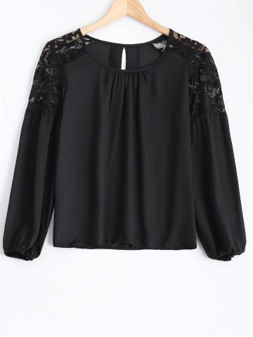 Outfit Chiffon Lace Spliced Blouse