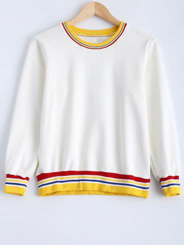 Fashion Color Spliced Pullover Loose Sweatshirt