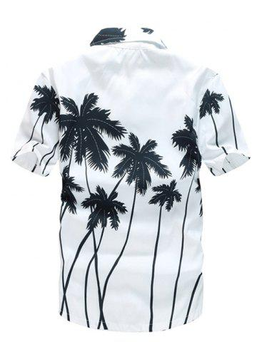 Short Sleeve Coconut Palm Printed Hawaiian Shirt от Rosegal.com INT