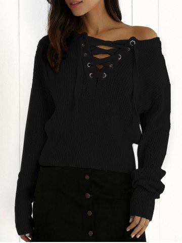 Best Lace Up Jumper BLACK ONE SIZE