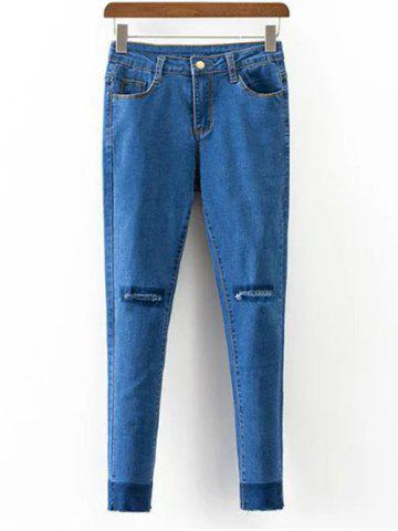 Shops Ripped Slimming Narrow Feet Jeans