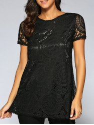 Lace Openwork Tee -