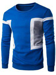 Color Splicing Crew Neck Long Sleeve Sweatshirt