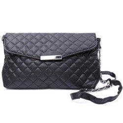 Graceful Checked and Metal Design Women's Crossbody Bag -
